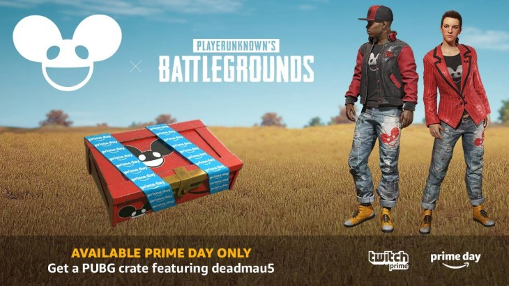 【PUBG】Twitch Prime会員特典:24時間限定で「DEADMAU5 Crate」配布中。7種の限定スキンを入手可能