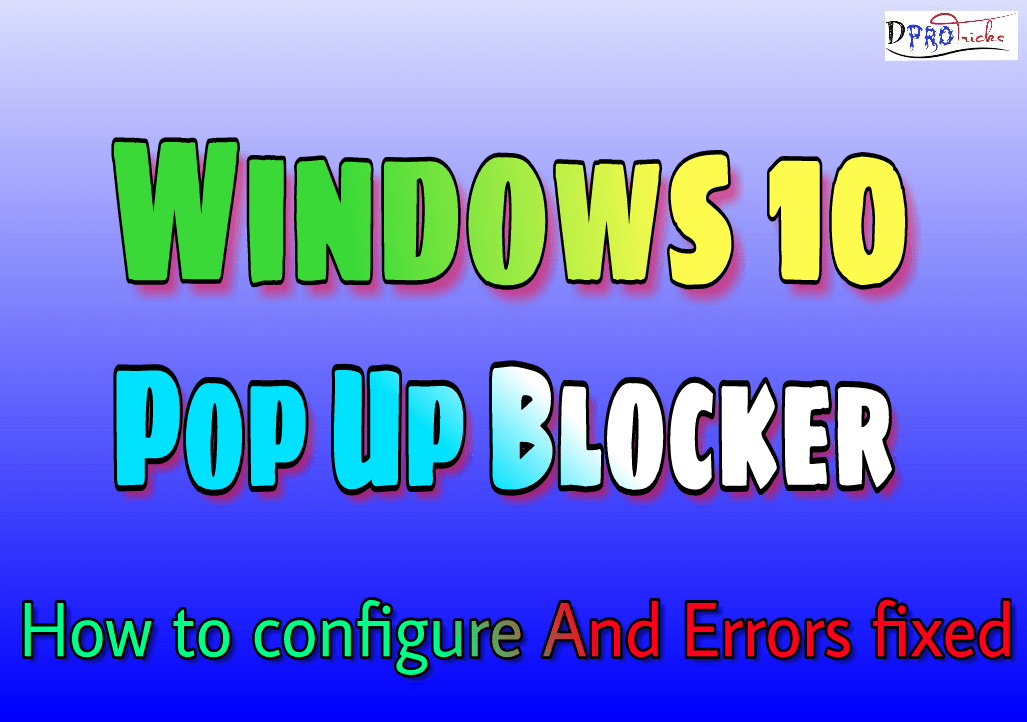 pop up blocker windows 10