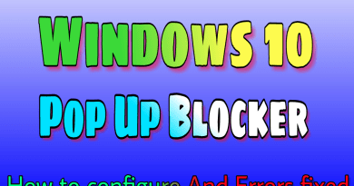 Windows 10 pop up blocker