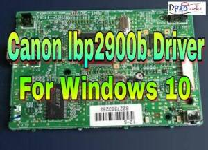 Canon lbp2900b driver for windows 10