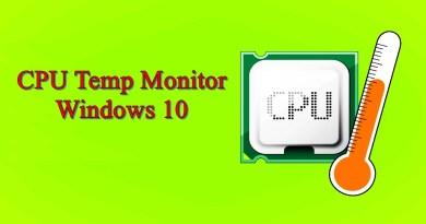 CPU Temp Monitor Windows 10
