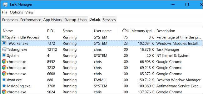 Windows Modules Installer Worker Windows 10 A