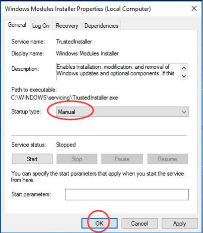 Windows Modules Installer Worker Windows 10 L