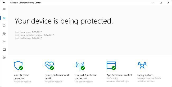 Windows Defender and Avast Windows 10 7