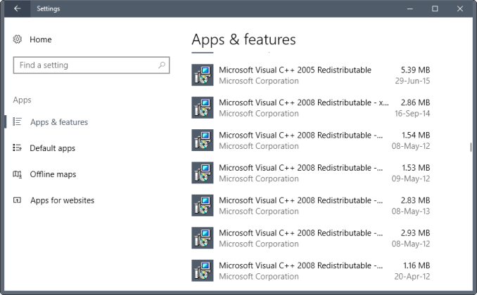 Microsoft Visual C++ Redistributable 3