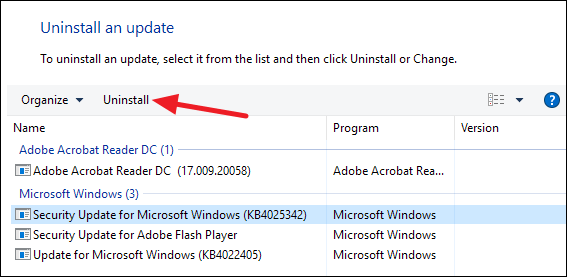 how to uninstall windows 10 update 12