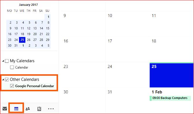 Google calendar app for windows 10 9