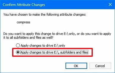 compress this drive to save disk space 9