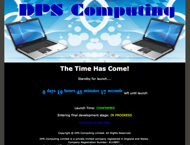 DPS Computing Limited - Launch - T-Minus 20 hours