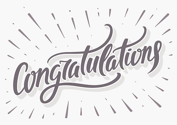 Congratulations card. Hand lettering. Vector hand drawn