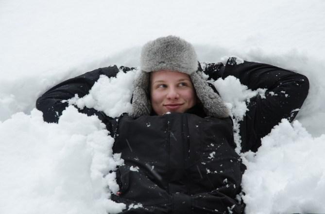 Pascal im Schnee