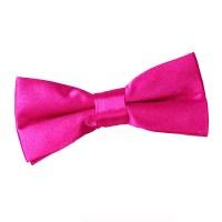 Boy's Plain Hot Pink Satin Bow Tie