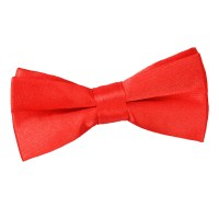Boy's Plain Red Satin Bow Tie