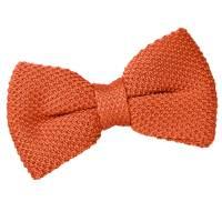 Men's Knitted Burnt Orange Bow Tie