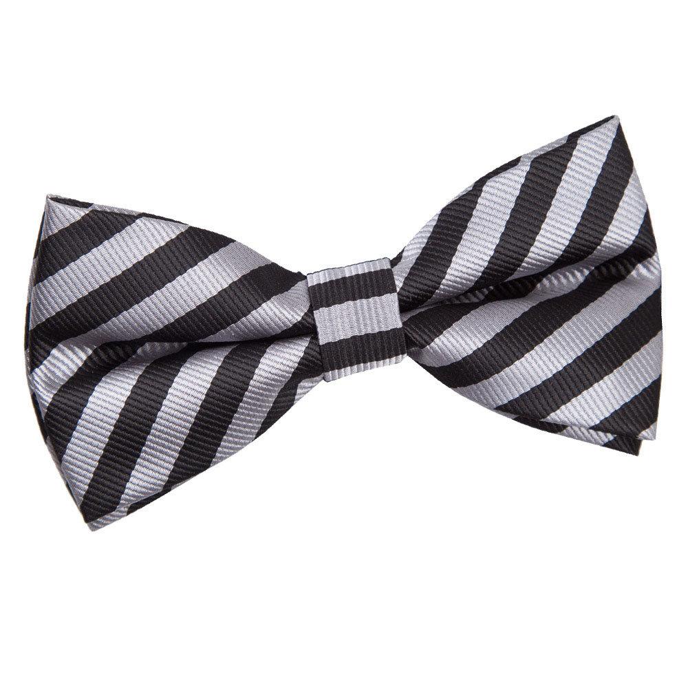 Men's Thin Stripe Black & Grey Pre