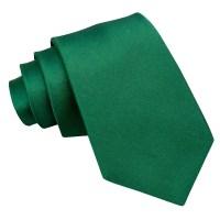 Men's Plain Emerald Green Satin Extra Long Tie