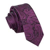 Men's Paisley Purple Skinny Tie