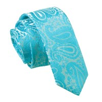 NEW DQT HIGH QUALITY PAISLEY MEN'S WEDDING SKINNY TIE ...
