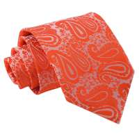 Men's Paisley Burnt Orange Tie