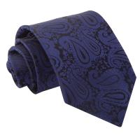 Men's Paisley Navy Blue Tie