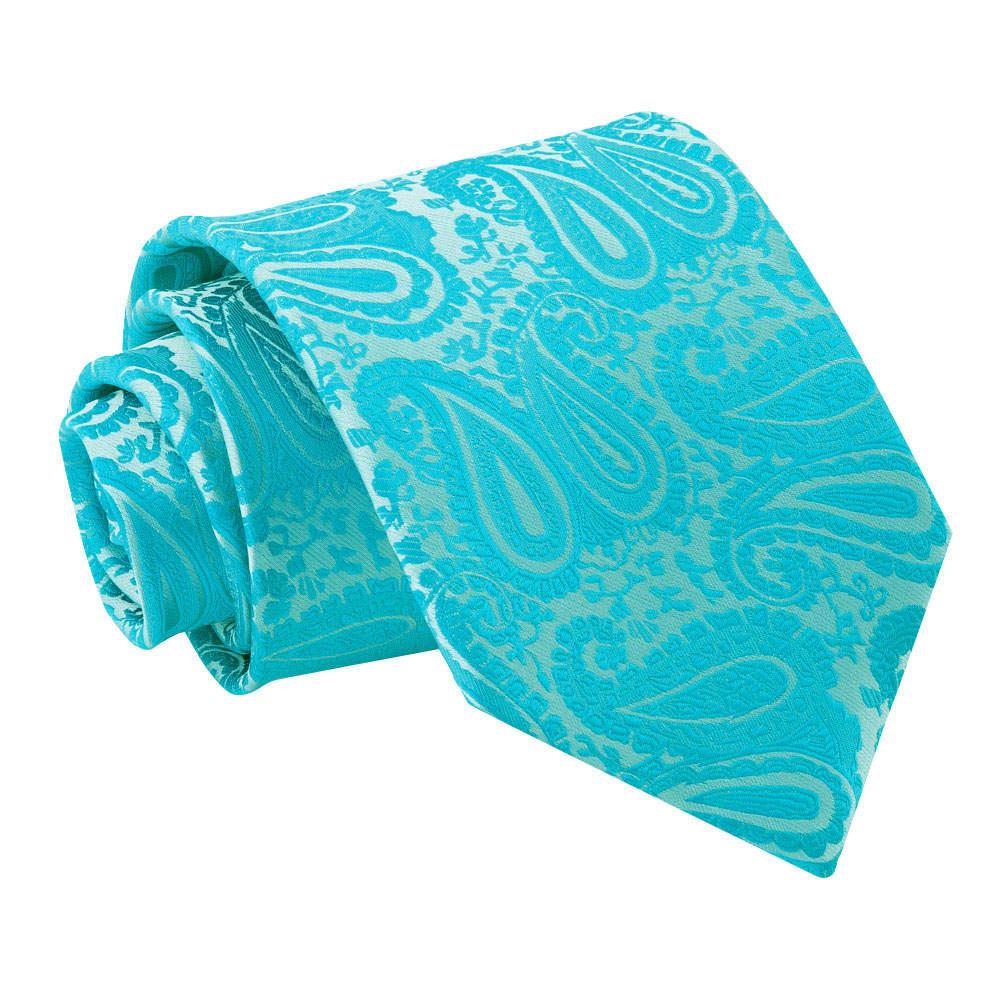 Men's Paisley Turquoise Tie