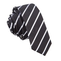 New DQT Single Stripe Skinny Tie