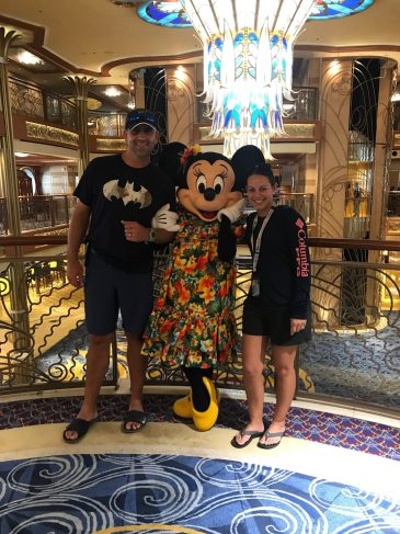 Minnie and adults