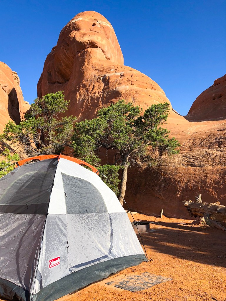 the national parks Arches campground
