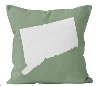state throw pillow
