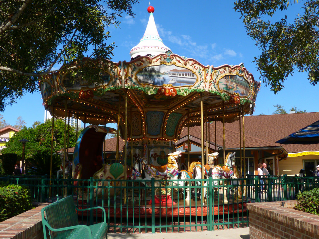 Disney springs for kids carousel