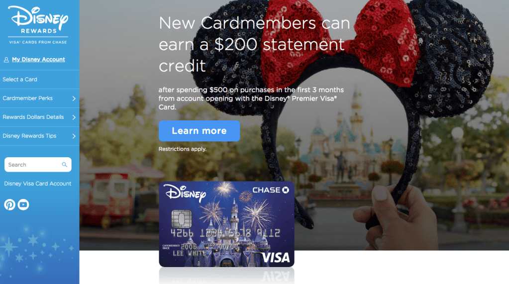 Disney credit card disney on a budget