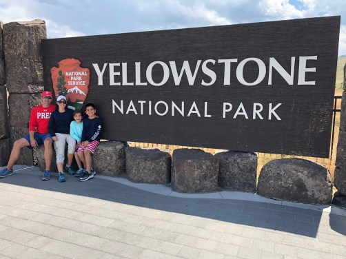 Yellowstone Sign Family grand teton to yellowstone
