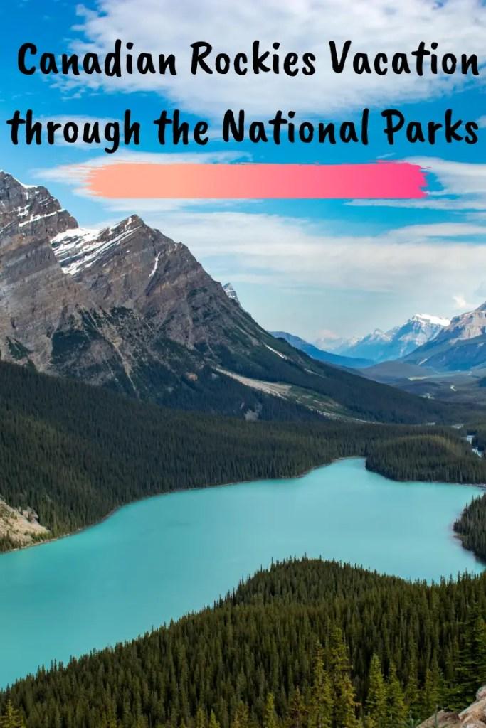 canadian rockies vacation pin