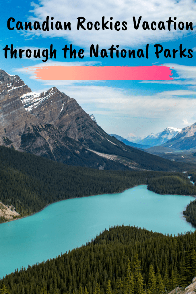canadian rockies vacation pin