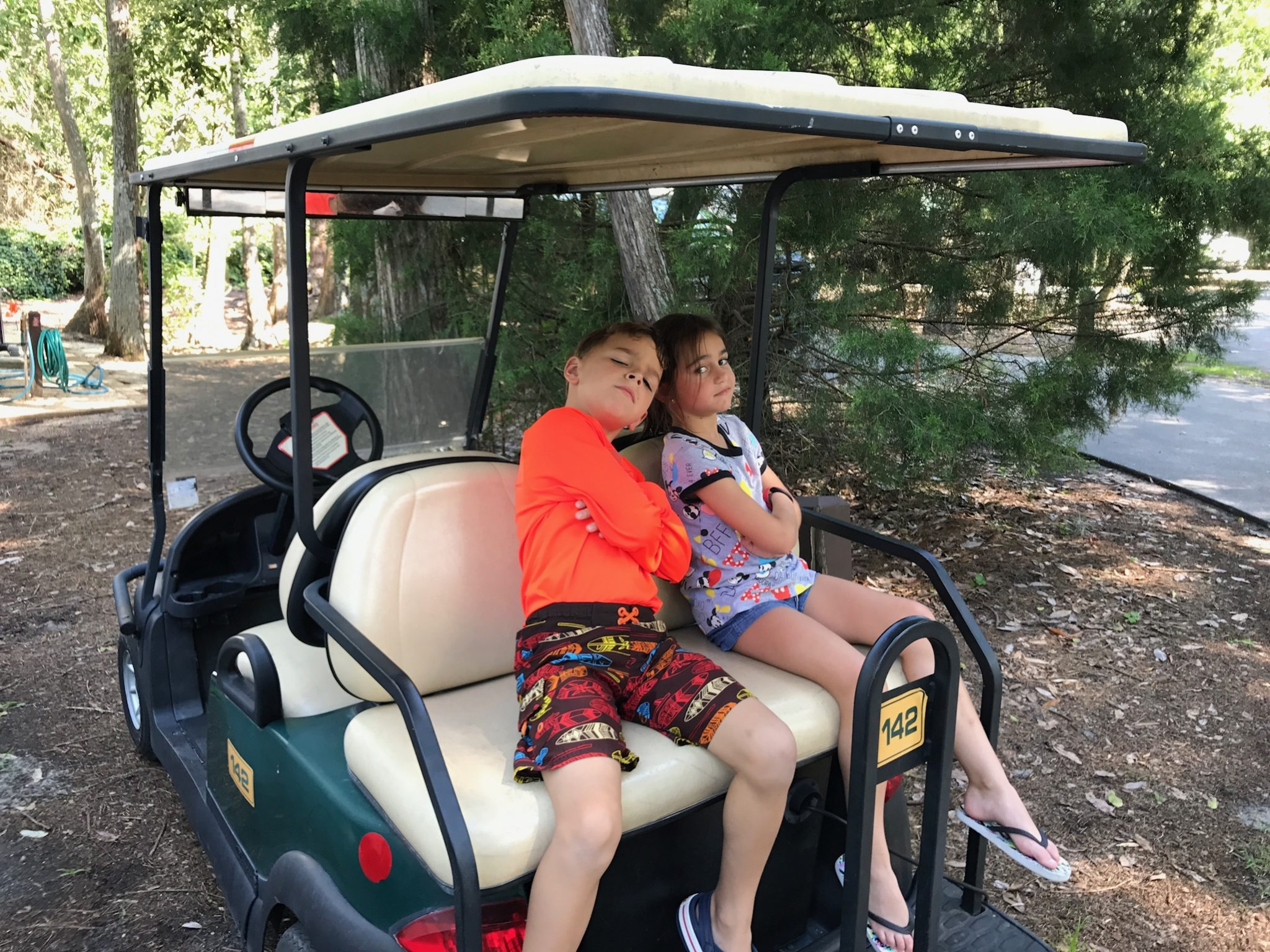 Disney moderate resorts golf cart