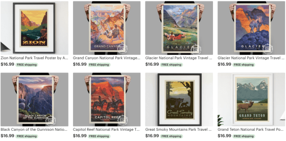 posters  national parks gift guide
