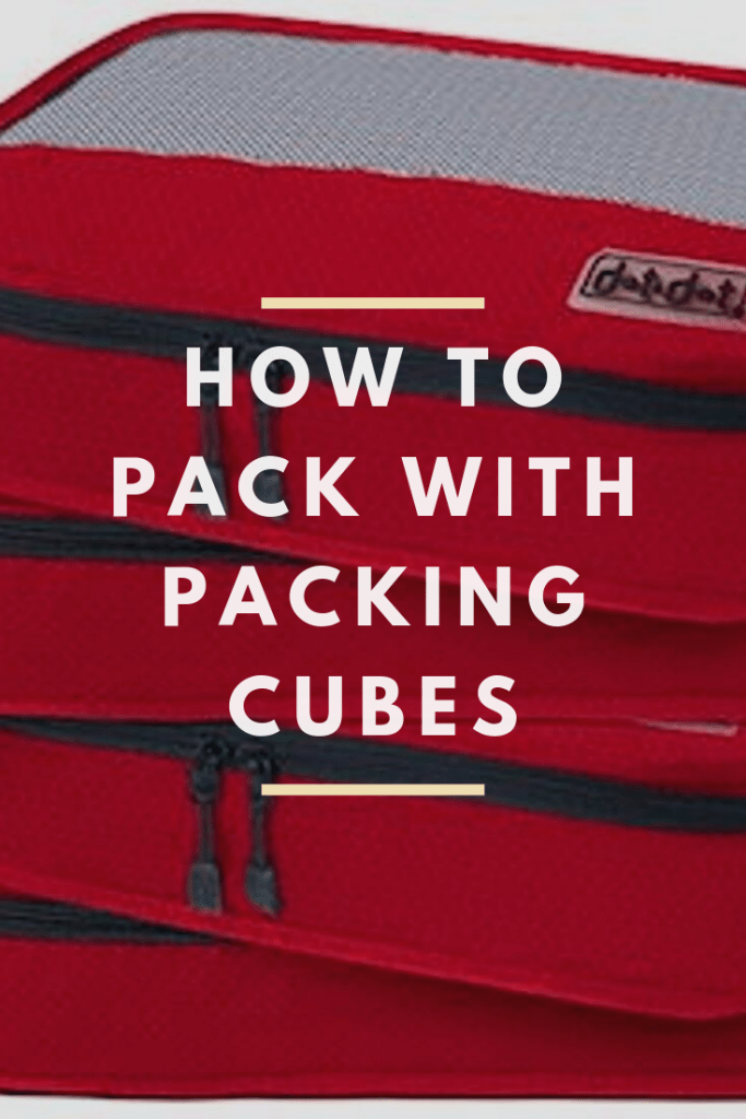 how to pack with packing cubes