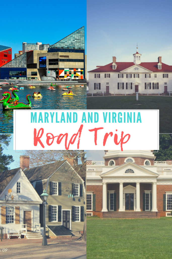 Maryland and Virginia Road trip pin