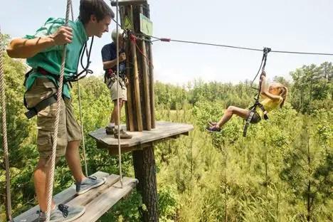 Go Ape Treetop Adventures Williamsburg for kids