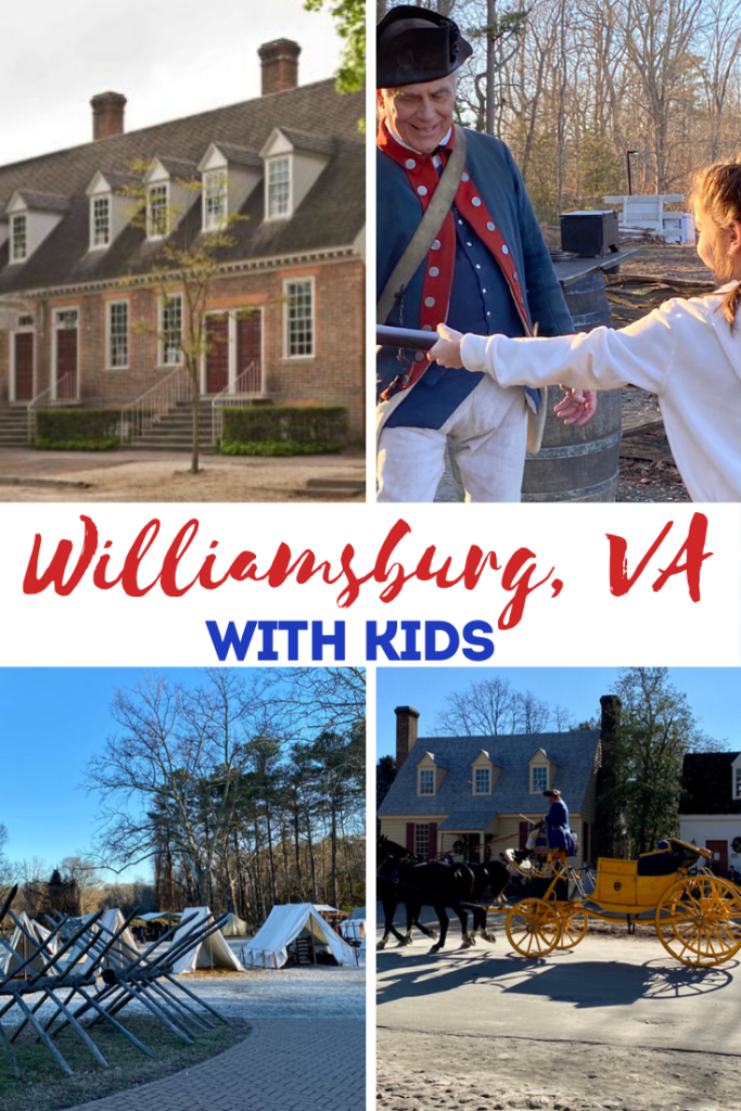 williamsburg va with kids