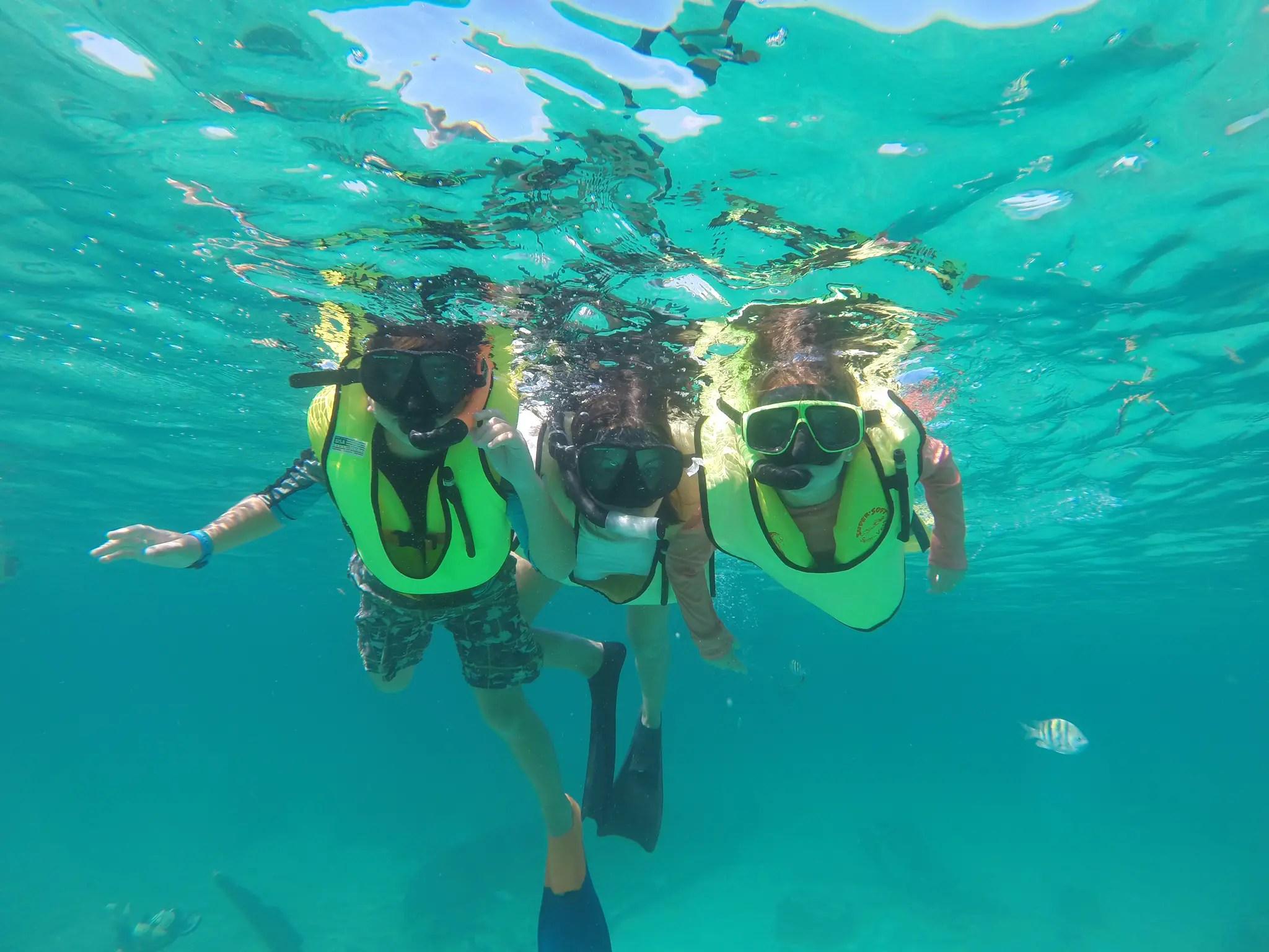 Castaway Cay snorkeling family
