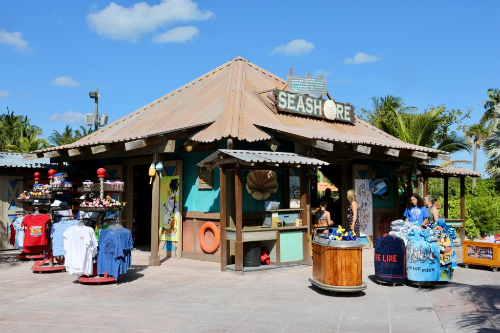 One of the many Castaway Cay activities is to go shopping