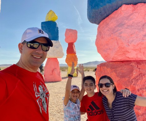 Seven Magic Mountains Family national parks road trip