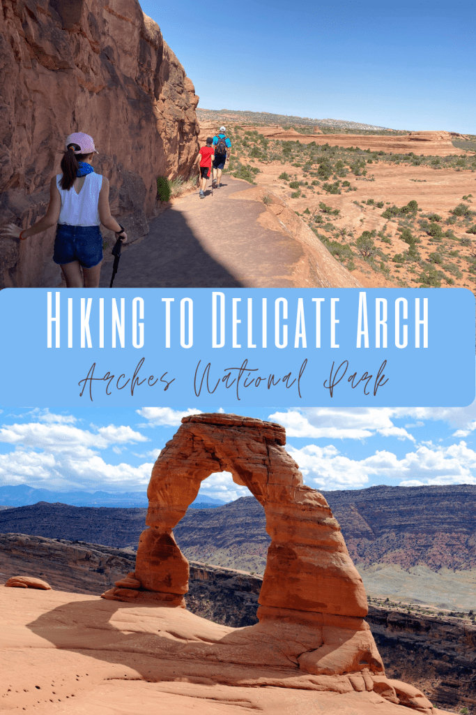 hiking to delicate arch pin