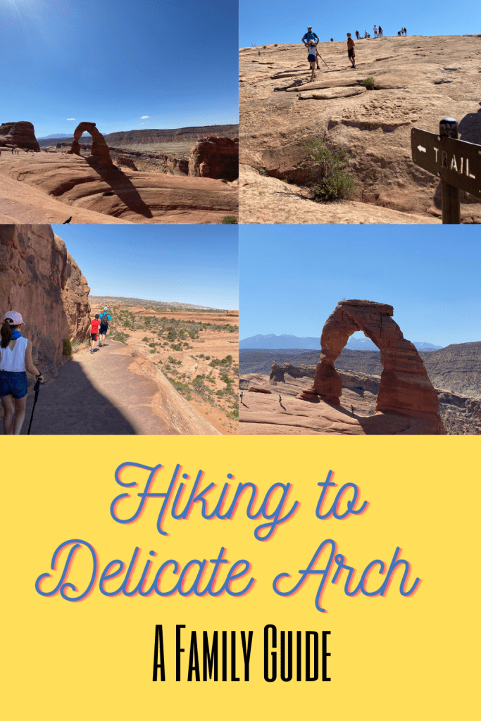 delicate arch hike pin