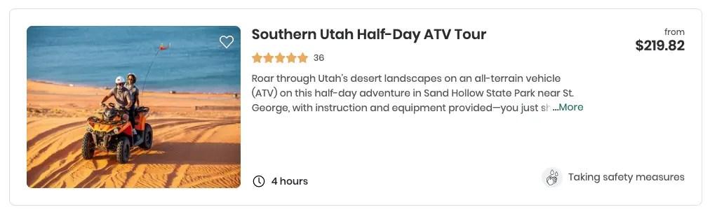 southern Utah tour