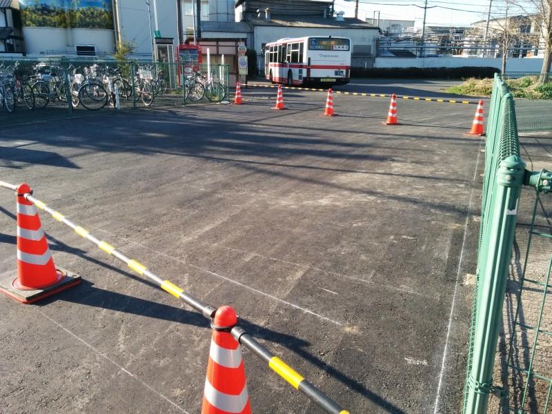 福岡町バス停工事2