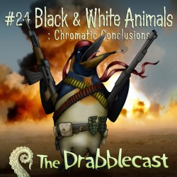 Cover for Drabblecast episode 24 , Black and White Animals 3, by Bo Kaier