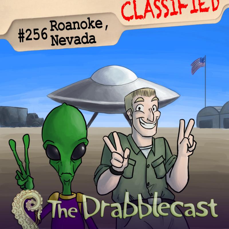 Cover for Drabblecast episode 256, Roanoke, Nevada, by Spencer Bingham