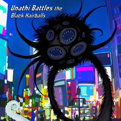 Cover for Unathi Battles the Black Hairballs by Bo Kaier